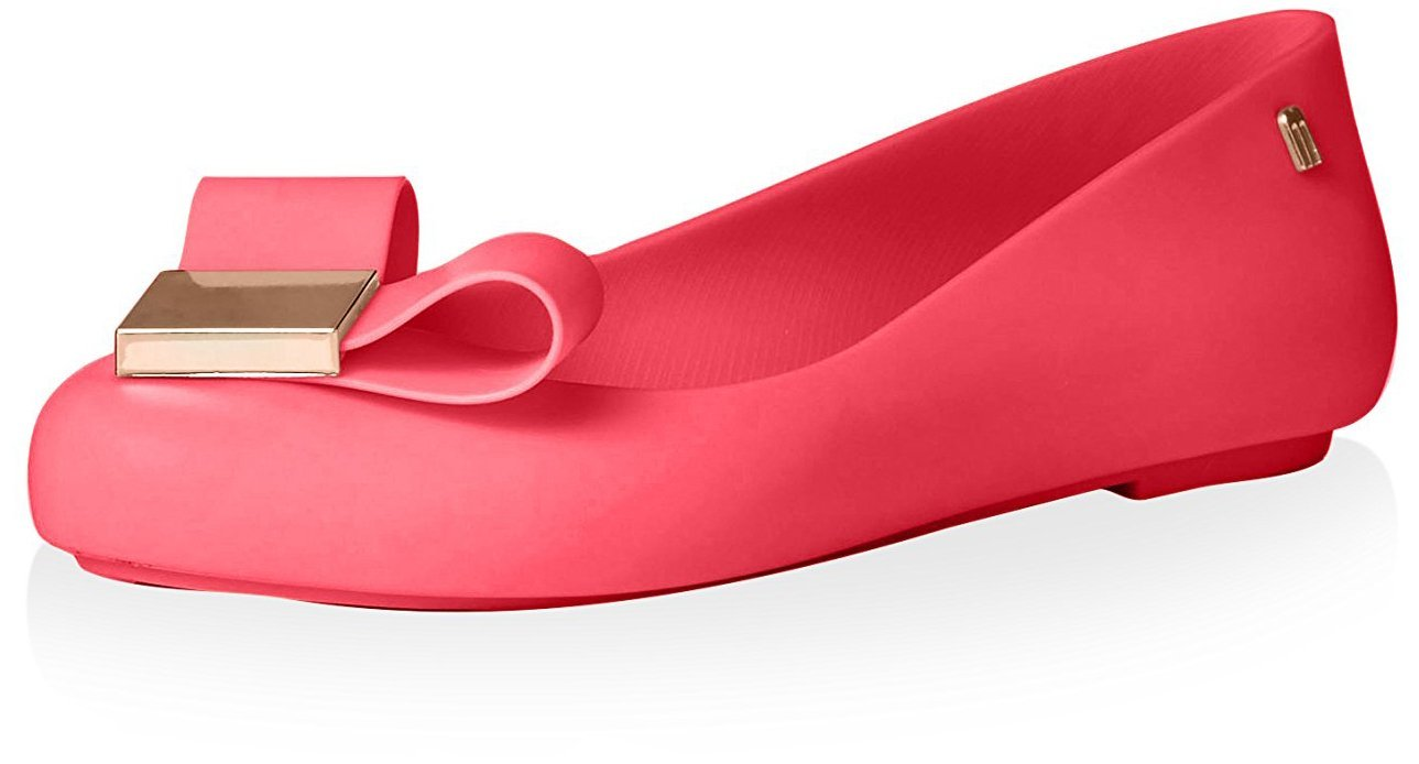 Melissa Women's Space Love Ballerina Flat, Pink, 9 M US