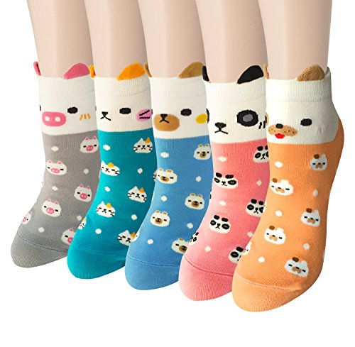 5-Pairs-Womens-Cute-Animal-Cartoon-Cotton-Colorful-Casual-Crew-Socks-by-Chalier