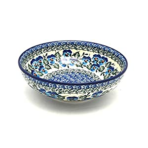 Polish Pottery Bowl – Contemporary Salad – Winter Viola