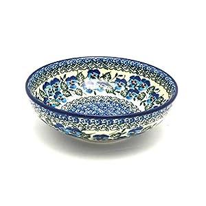Polish Pottery Bowl – Contemporary Salad – Winter Viola
