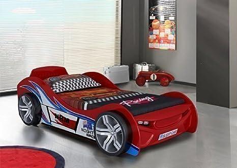 AHOC Cama/somier para niños con forma de coche deportivo ...