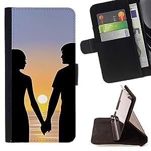 Jordan Colourful Shop - Romance Sunset For LG G2 D800 - < Leather Case Absorci????n cubierta de la caja de alto impacto > -