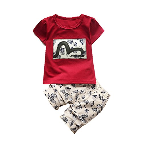 ftsucq-little-boys-girls-feather-pattern-shirt-top-two-pieces-shorts-setsred-110