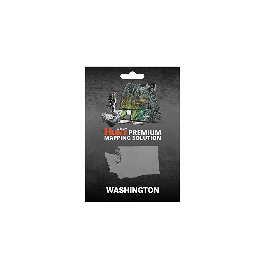 Washington Hunting Maps: onX Hunt Chip for Garmin GPS Public & Private Land Ownership Game Management Units Includes Premium Membership for onX Hunting App for iPhone, Android & Web