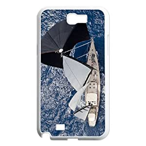 Beautiful Sailboat Rudders Customized Cover Case with Hard Shell Protection for Samsung Galaxy Note 2 N7100 Case lxa#401842