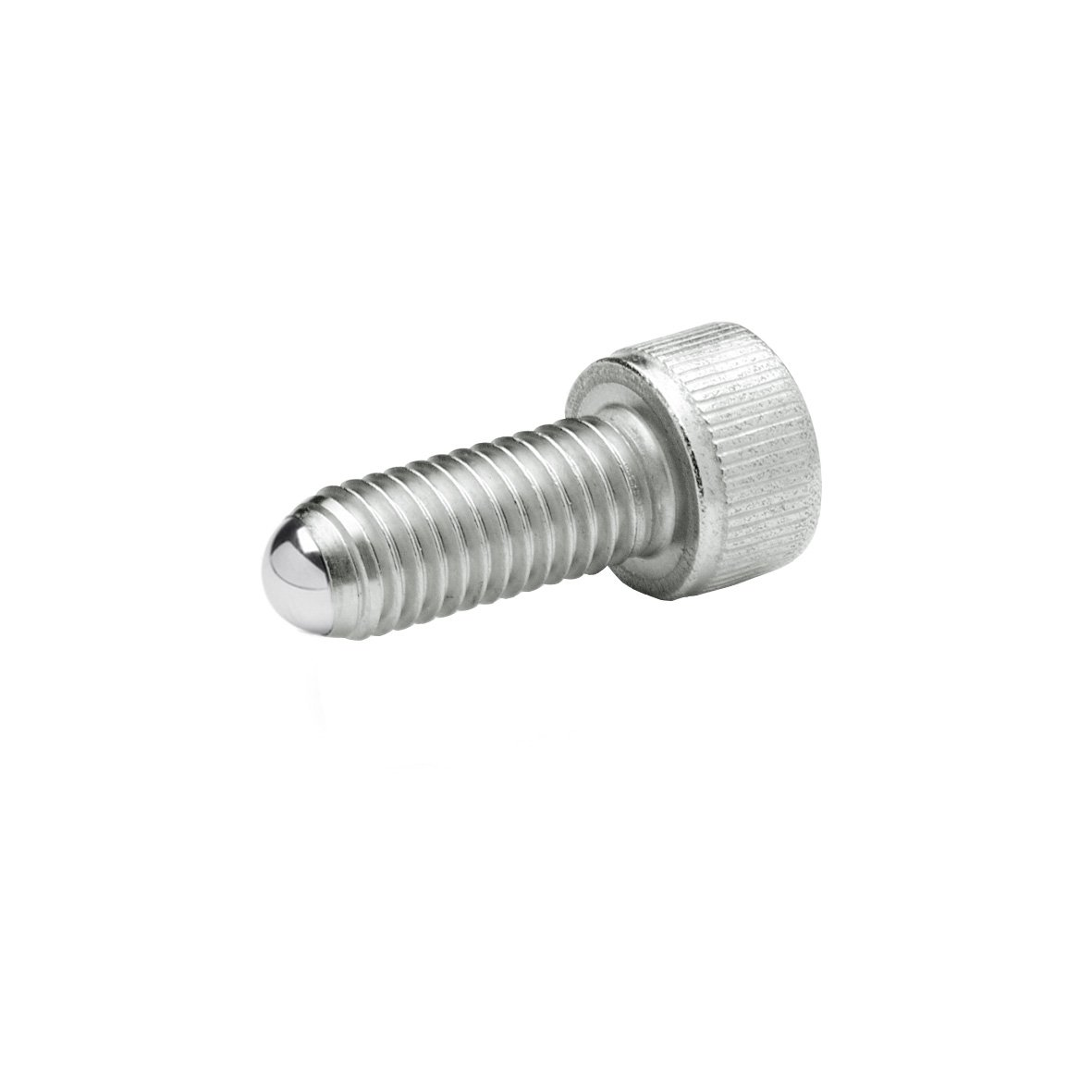 Stainless Steel Ganter M12 x 80 mm Thread Length J.W Winco 12N80P48//AN GN606-NI Socket Head Cap Screw with Full Ball End