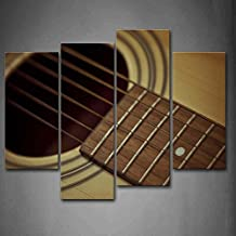 First Wall Art - Guitar Chords And A Hole In Circle Wall Art Painting The Picture Print On Canvas Music Pictures For Home Decor Decoration Gift