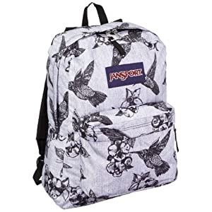 JanSport T501 Superbreak Backpack - Grey/Black Botanical