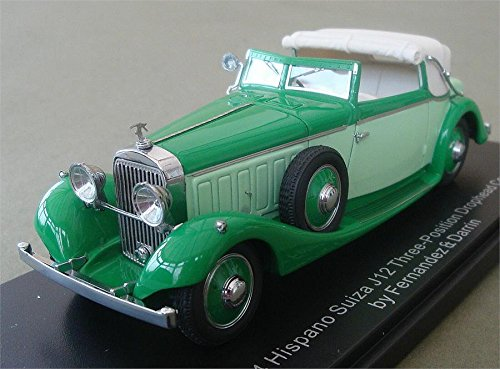 1934 Hispano Suiza J12 Three-position Drophead Coupe by Fernandez Darrin -Parris in 1:43 Scale by Esval Models