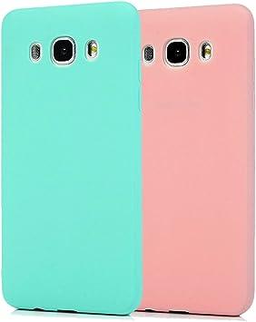 Funda Samsung Galaxy J5 2016, 2Unidades Carcasa Samsung J510 Silicona Gel, OUJD Mate Case Ultra Delgado TPU Goma Flexible Cover para Samsung Galaxy J510/J5 2016: Amazon.es: Electrónica
