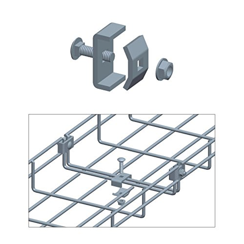 Quest Manufacturing Cable Tray Coupler, Zinc (CT0001-03),Silver