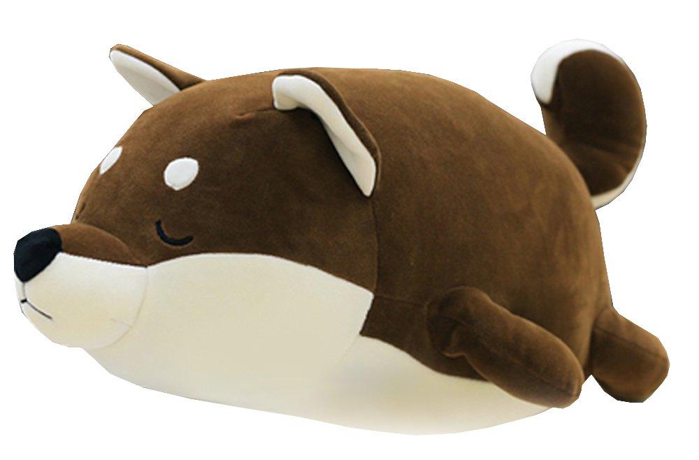Shiba Inu Dog Printed Throw Pillow Lifelike Animal Pillows Plush Toy for Valentine's Gift, Bed,Sofa Chair