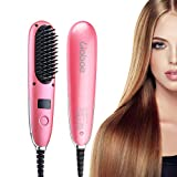 Liaboe Cobble Mini Hair Straightener Brush - Electrical Heated Brush with Auto Temperature