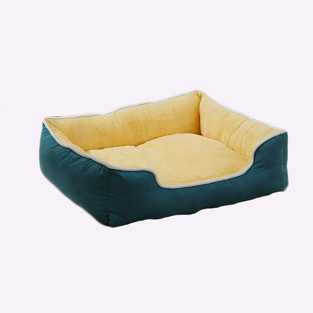 M(57x54x22cm) Cat and Dog Bed Pet Mats,Medium and Large Dogs Pet Bed, Washable Warm Plush Mattress, Green (Size   M(57x54x22cm))