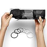 2 Pack Miracle Face Erase Makeup Remover Face Cloths, Chemical-free, Microfiber, Bonus 6 Hair Ties, (Black)