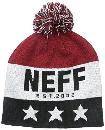 Neff Big Star Beanie Gorros, Unisex Adulto, Rojo, Talla Única marrón