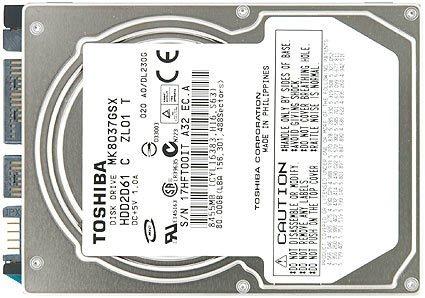 Toshiba MK8037GSX 80GB SATA/300 5400RPM 8MB 2.5-Inch NB Hard Drive