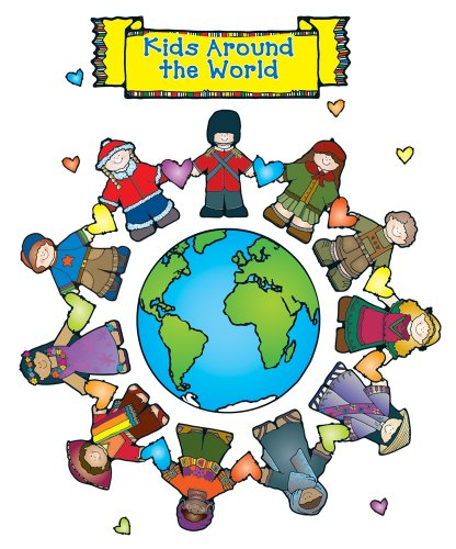 Carson Dellosa D.J. Inkers Kids Around The World Bulletin Board Set (610041)