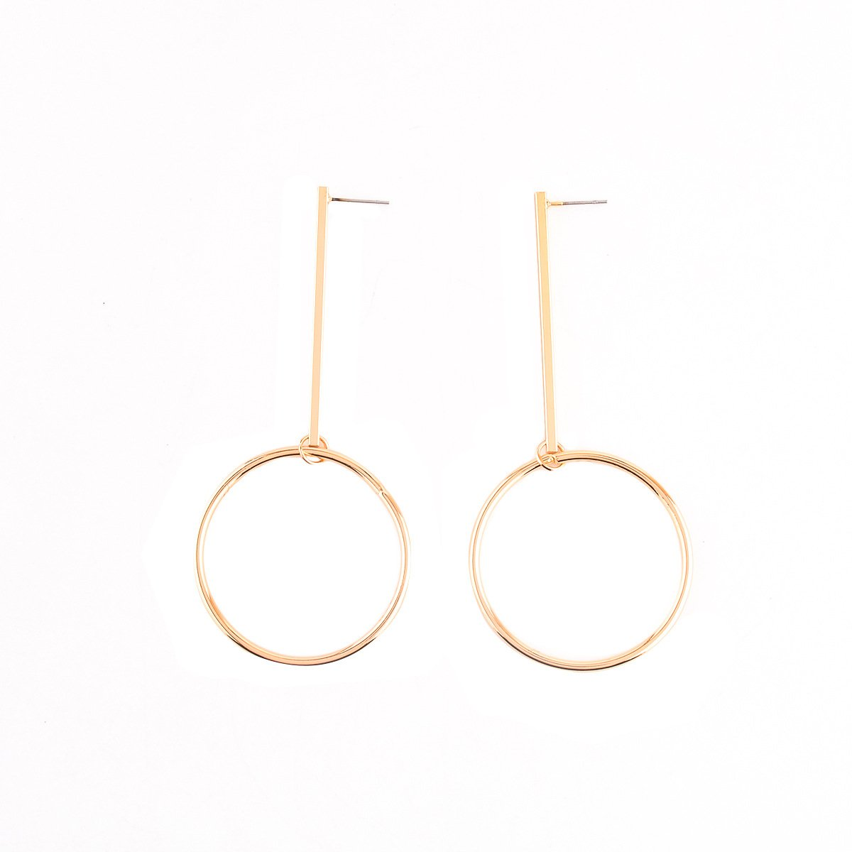 CHUYUN Cool Simple Big Circle Round Drop Dangle Hoop Earring Charm Gift