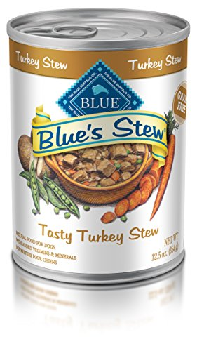 Blue Buffalo Blues Stew Natural Adult Wet Dog Food, Turkey Stew 12.5-oz can (Pack of 12)