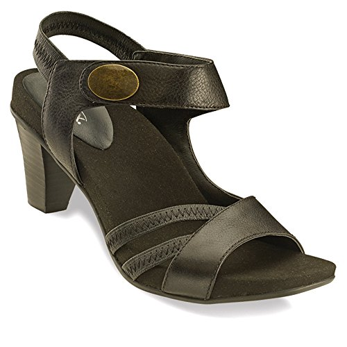Aetrex Women's Kendall,Black Soft Tumbled Leather,US 5 M