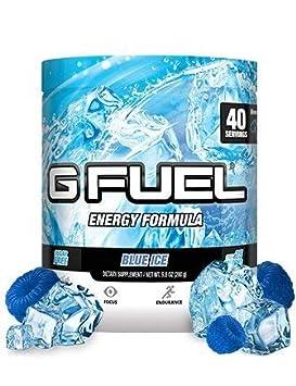 G Fuel Blue Ice Tub 40 Servings Elite Energy and Endurance Formula Net Wt 9.8 Ounce