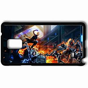 Personalized Samsung Note 4 Cell phone Case/Cover Skin Art Shepherd Garrus Weapon Geth Jack Black by icecream design