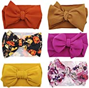 Baby Girl Bow Headbands Newborn Baby Turban Knotted Elastic Headwraps for Infant Toddler Hair Accessories