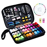 #1: Sewing Kit BoChang - Over 130 DIY Premium Sewing Supplies, Zipper Portable & Complete Mini Sew Kit for Traveller, Adults, Beginner, Emergency - Filled with Mending Supplies and Sewing Accessories