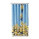 Universal Studios Minion Mayhem Microfiber Shower Curtain, 72 Inch by 72 Inch (183cm X 183cm)