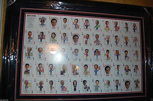 UNIQUE Mitt Romney 2012 Rep Hero Decks Playing Poker Cards Framed Un-Cut (Hero Poker)