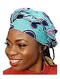 Blue Multicolor African Print Ankara Head Wrap One Size