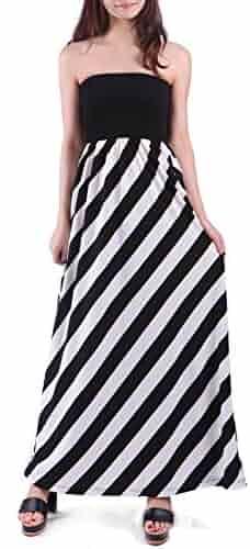 597a556baa168 HDE Women's Maternity Dress Strapless Tube Top Pregnancy Sundress Long Skirt
