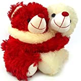 10 Inches Height Romantic Love Couple Hug Teddy Bear Special Gift For Valentines day /Best Valentines day gift For Girlfriends , Boyfriends ,Husband , Wife,