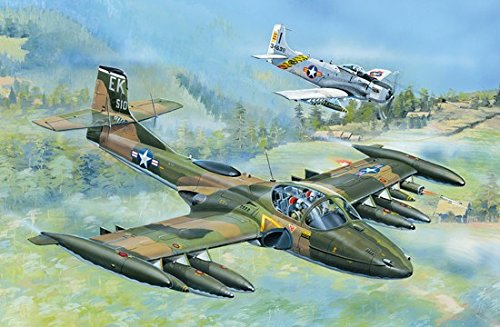 Trumpeter US A-37A Dragonfly Light Ground Attack Aircraft Model Kit (1/48 Scale) - Fly Model Aircraft
