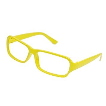 yellow plastic rectangle full rim glasses eyeglasses frame for women - Yellow Eyeglass Frames