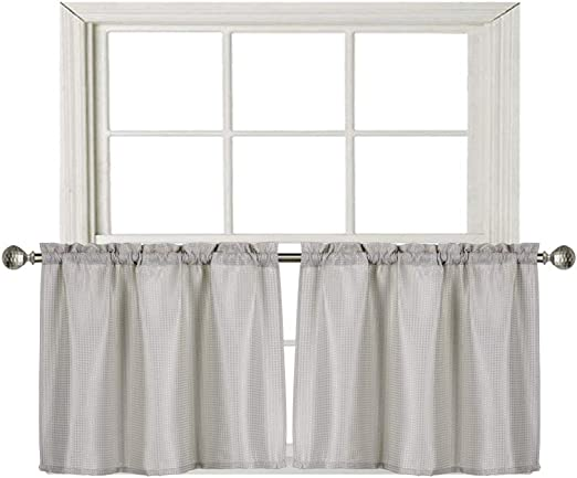 Amazon Com Home Queen Waffle Tier Curtains For Kitchen Window Waterproof Rod Pocket Bathroom Window Curtain For Small Window 2 Panels 36 W X 24 L Inch Each Solid Taupe Furniture Decor,Color Chart Shades Of Dark Purple
