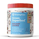 #4: Amazing Grass Green Superfood Organic Powder with Wheat Grass and Greens, Flavor: Holiday Cookie, 30 Servings