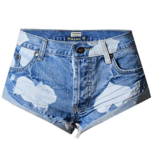 Del I Donne color Pantaloni Nightclub Jeans Stampano Spiaggia Le Pantaloni Allentano Vacation Della I picture Dei Caldi Byjia Denim Che 67xSHq