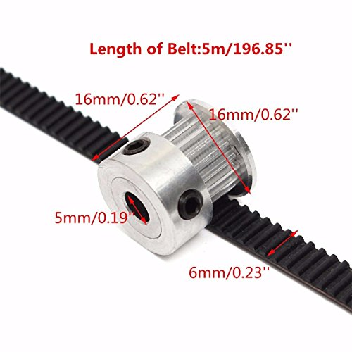 Timing Belt Pulley Price : Drillpro pcs mm teeth timing pulley wheel gt meters