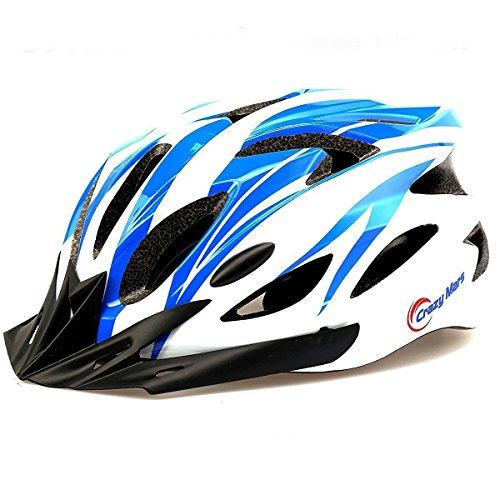 Crazy Mars Ultralight Stable Road/Mountain Mens/Womens Bike Helmet-blue+white
