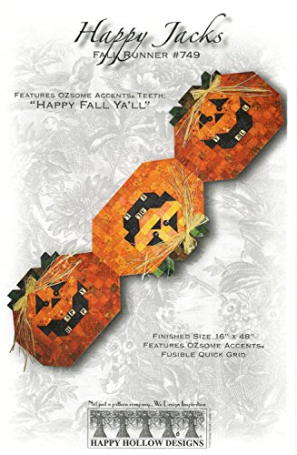 Happy Jacks Hollow Table Topper Pattern Halloween Jack O Lantern Pumpkin]()