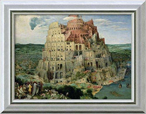 Canvas Art Framed 'Tower of Babel, 1563' by Pieter Bruegel the Elder