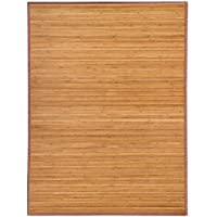 Topeakmart Durable Natural Bamboo Rug Area Mat Contemporary Decor 5'x 8'Indoor Outdoor Carpet