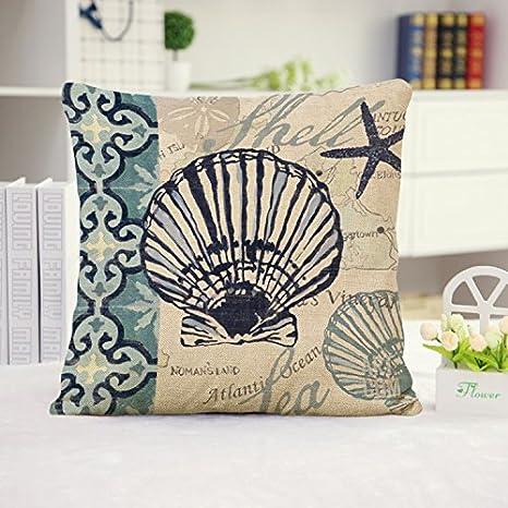 US Seller-set of 2 scallop shell coral sealife cushion cover sofa throw pillows