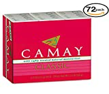 Camay Classic 3 Bath Bars Per Package With Softly Scented Natural Moisturizer (72-Pack, 4.0oz / 113g each Bar, Camay Romantic Red with Natural Moisturizer)