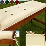 Garden 2 Seater Bench Cushion Pad Cover Waterproof 110x45x7cm 100% Polyester Red