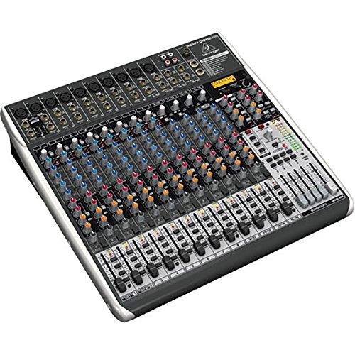 BEHRINGER, QX2442USB Premium 24-Input 4/2-Bus Mixer with Xenyx Mic Preamps & Compressors Klark Teknik Multi-FX Processor Black