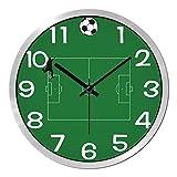 modern bedroom ideas Znzbzt Simple Creative Mute Wall Clock Green Ground Soccer Personalized Wall Clock Living Room Bedroom Ideas Modern Silent Clocks Clock Quartz Clock Wall Chart, 12-inch
