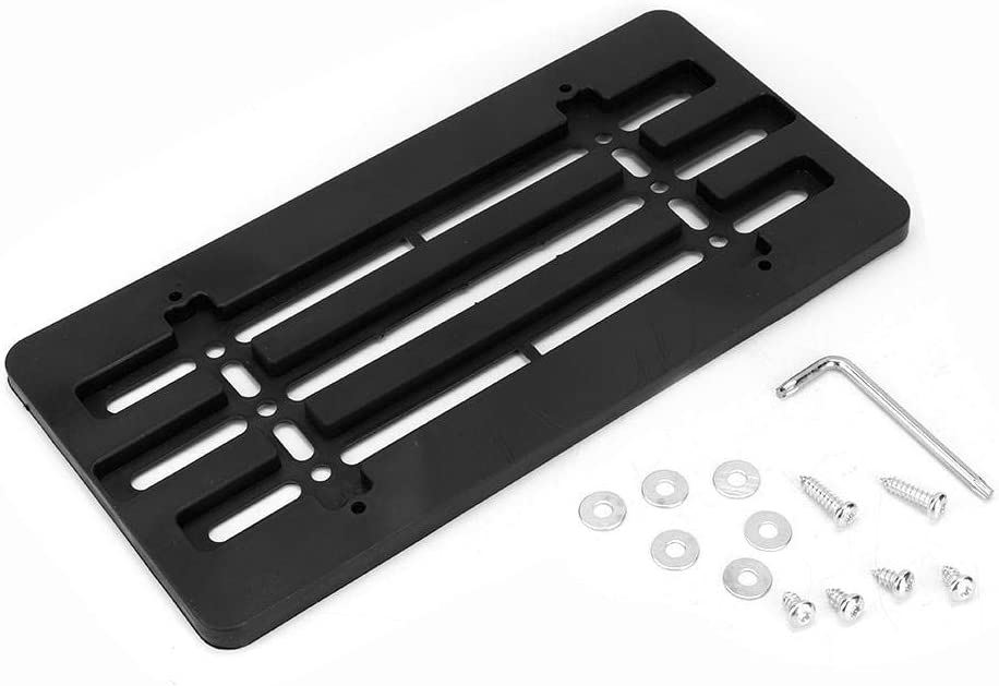 Portatarga per targa Kit staffa di montaggio per supporto targa per paraurti anteriore per auto universale 6x12 pollici